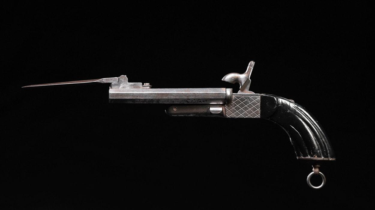 Антикварная лавка: двуствольный шпилечный пистолет