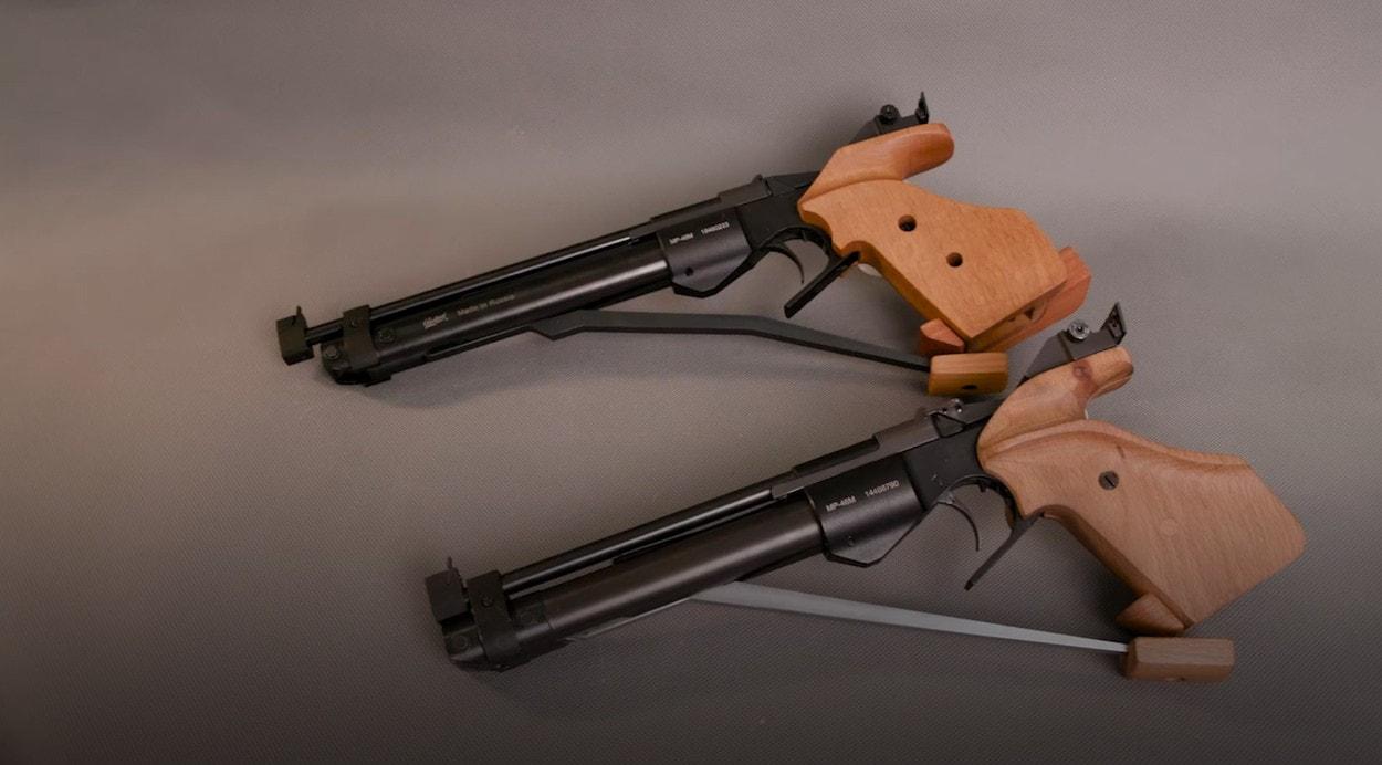 Современная пневматика: Спортивный пистолет компрессионного типа МР-46М
