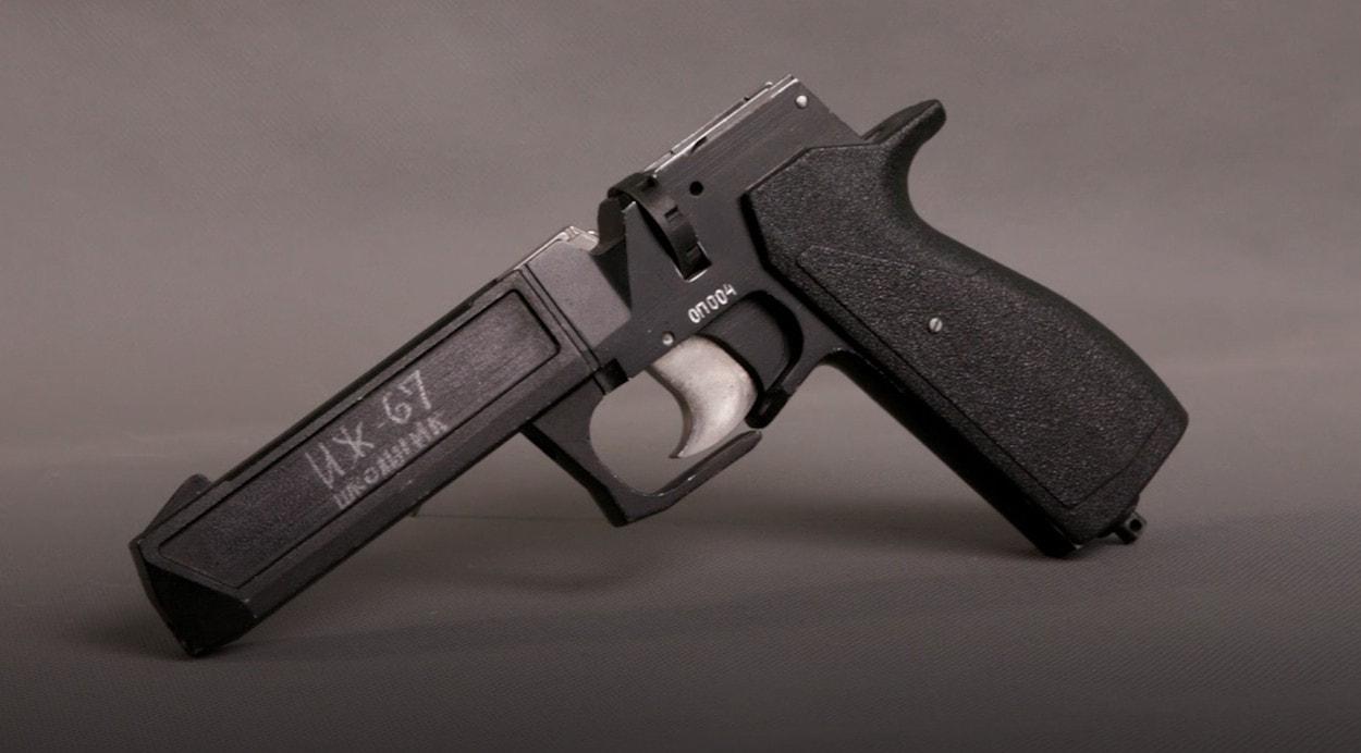 История пневматики: Многозарядный газобаллонный пистолет ИЖ-67