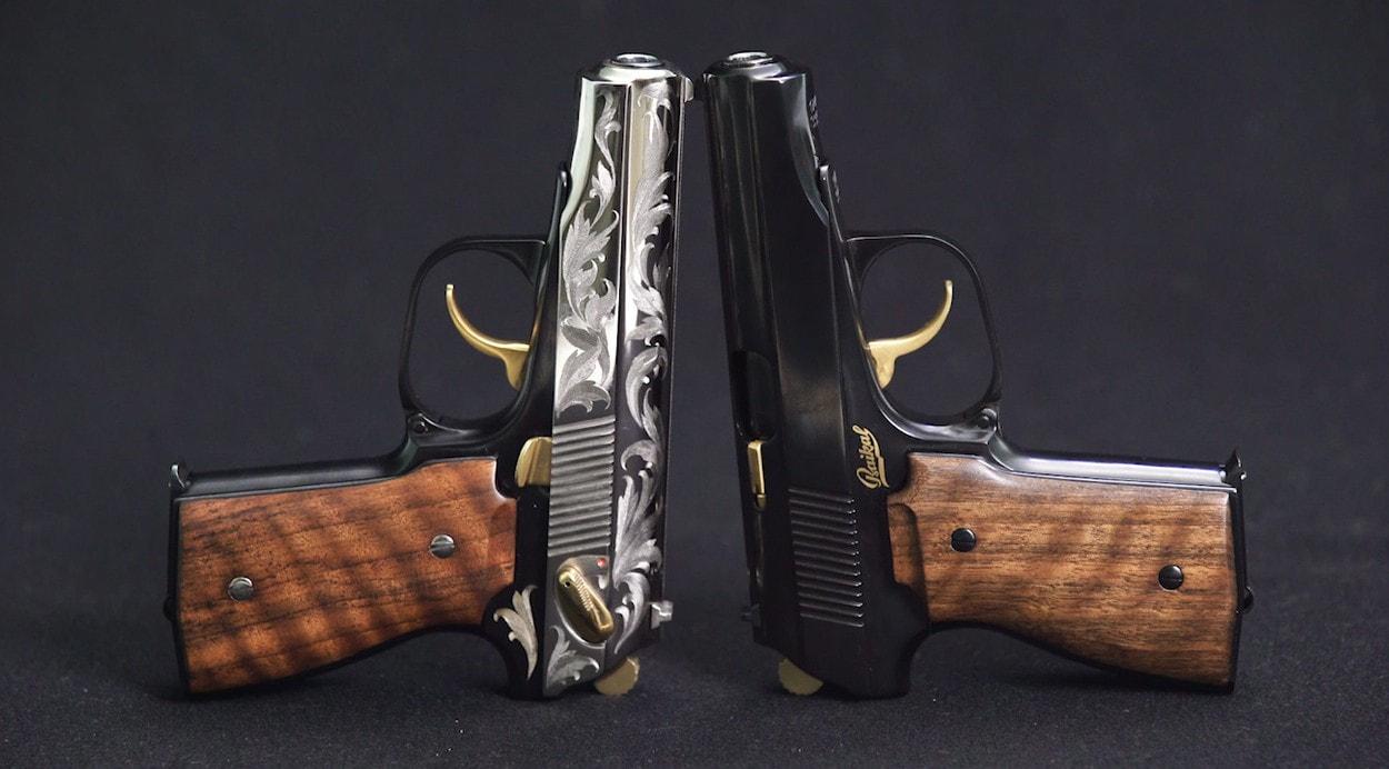 Пистолеты Baikal 442 с гравировкой