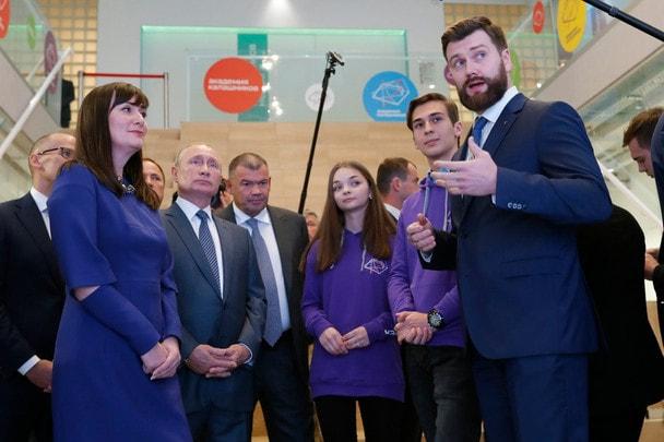 Владимир Путин принял участие в церемонии открытия Академии «Калашников»
