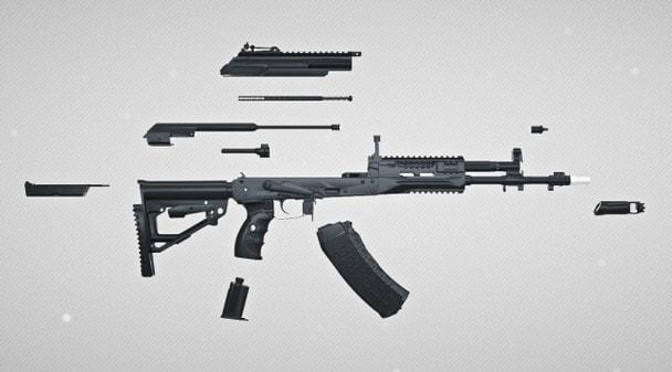 Неполная разборка АК-12